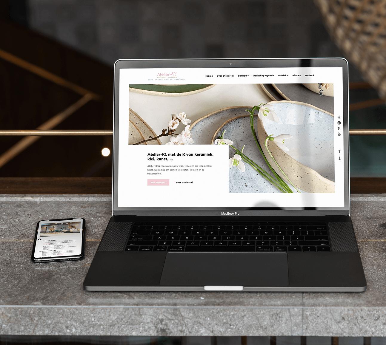 Project atelier-k | lsDevign - Custom Web Development and Webdesign in Lichtervelde