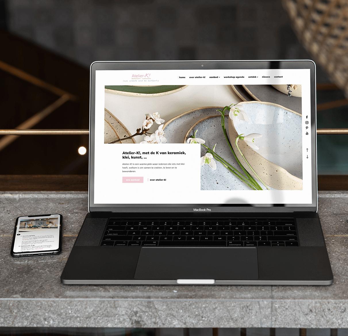 Project atelier-k | lsDevign - Web Development en Webdesign op maat regio Lichtervelde